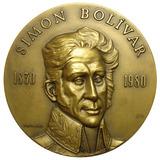 Gran Medalla Sesquicentenario Muerte Simón Bolívar 1980 80mm