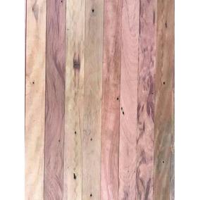Assoalho Maciço De Madeira Demolição Peroba-rosa Larg De 7cm