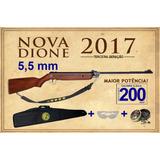 Nova Carabina Rossi Dione 5,5mm Madeira 2017 + Acessórios