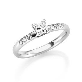 0ebbf3b838d22 Aneis Noivado Pedra Quadrada - Anéis com o melhor preço no Mercado ...