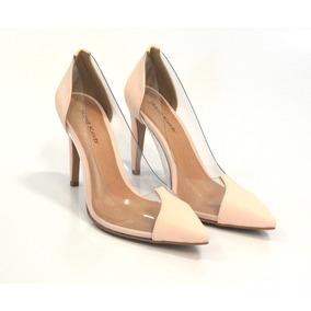 461e0e9244 Scarpin Preto Vinil Salto De Feminino - Sapatos Nude no Mercado ...