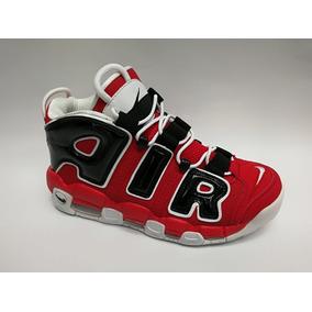 Botas Nike More Uptempo Roja Negra Hombre Env Gra