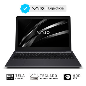 Notebook Vaio 15s I7 8gb 1tb 15.6 Full Hd W10