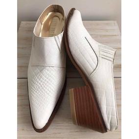 2e159cfa1e62f Zapatos Zuecos Cuero Blanco 38 Nuevos