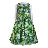 Vestido Infantil Tam: 6 Ao 12 Florido Katitus Verde 1481b