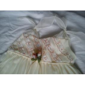 Vestido De Niña Usado Talla 4(pequeña) De Bautizo