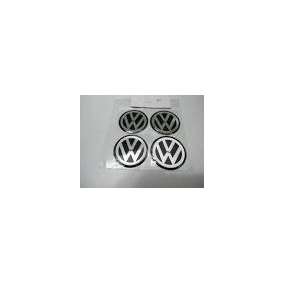 Kit Emblemas De Calotas Automotivas 51mm Volks.