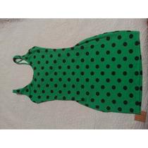 Vestido A Lunares C/ Etiqueta Verde Pin Up Retro Vintage