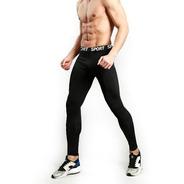 Calza Termica Cintura Deportiva Para Hombre Lycra Frizada