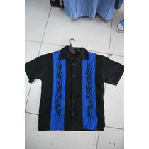 Camisa Hawaiana Guayabera Cubavera Bowling C 1207
