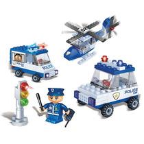 Blocos Brinquedo Montar Banbao Veiculos De Policia 113 Pcs