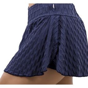 Kit De 3 Short-saia Tecido Bolha Academia Fitness