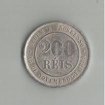 Moeda De 200 Reis 1889, Niquel Republica,