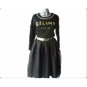 Sudadera Chic Letras Collar Cadena Negra Paris