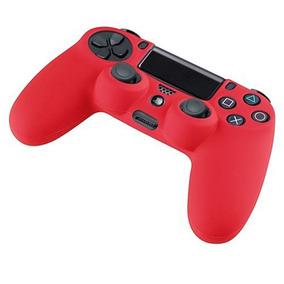 Suave Silicona Caucho Piel Caso Sony Ps4... (red)