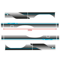 Kit Faixas Adesivos D20 C20 93 Prata - Caçamba Estendida