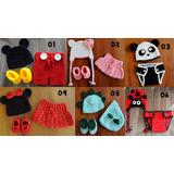 Conjunto Crochê Newborn Fotografia - Mickey, Chaves E Outros