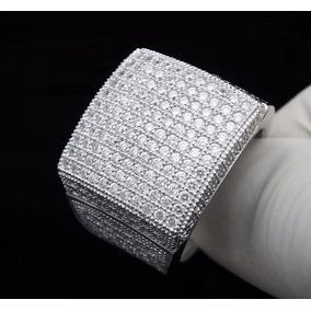 Anillo Plata 925 Iced Lab Diamante Talla 11 Hombre 18 Gramos