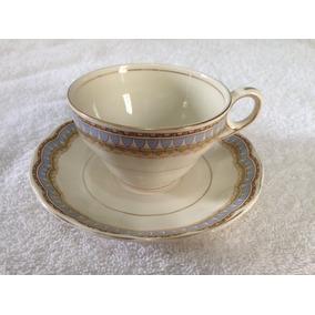 Peças Jg De Chá - Porcelana Inglesa - Fio De Ouro - Grindley