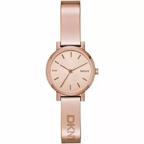 Reloj Dkny Dama Redondo Oro Rosa Brazalete Original Ny2308