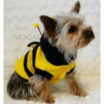 Roupa Cachorro Gato Pet Dog Fashion Tamanho P Abelhinha