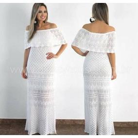 Vestido Longo E Conjunto De Trico Feminino Ombro A Ombro T U