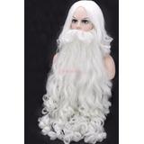 Peluca Y Barba Santa Claus Navidad Disfraz Cosplay Unisex