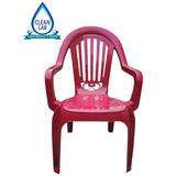 Sillon Plastico Reforzado Apilable Diseño Estilo Color Bordo