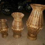Jarro Vaso Bambu Trançado Artesanal 60 Cm Altura Kit C/ 2