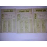 3 Antiguas Cartillas De Polla Gol Concurso 488 (23/08/1985)