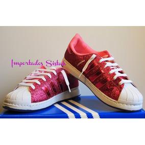 Zapatillar adidas Superstar Glitter Fucsia