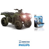 Lâmpada Moto Philips H4 P/ Honda Trx 420 4trax Efeito-xenon