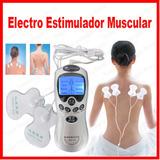 Masajeador Electrico Estimulador 4 Parches Envios Todo Perú