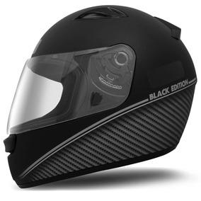 Capacete New Spark - Black Edition Preto Fosco/prata