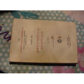 Libro Cursus Philosophicus , Pars Iii , Metaphysica Generali