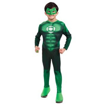 Disfraz Niño Traje Jordan Deluxe Hal De La Linterna Verde N
