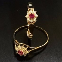 Anel Advogada Formatura Feminino Esmeralda Emblema Ouro 18k