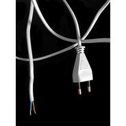 Cables Ficha Europea Nuevos Norma Europea X 10 U. Excelentes