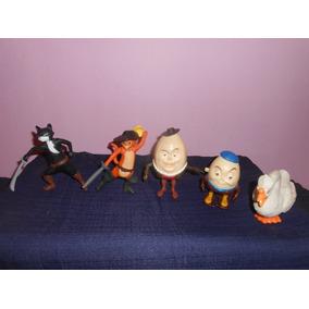 Lote 5 Figuras El Gato Con Botas De Mcdonalds