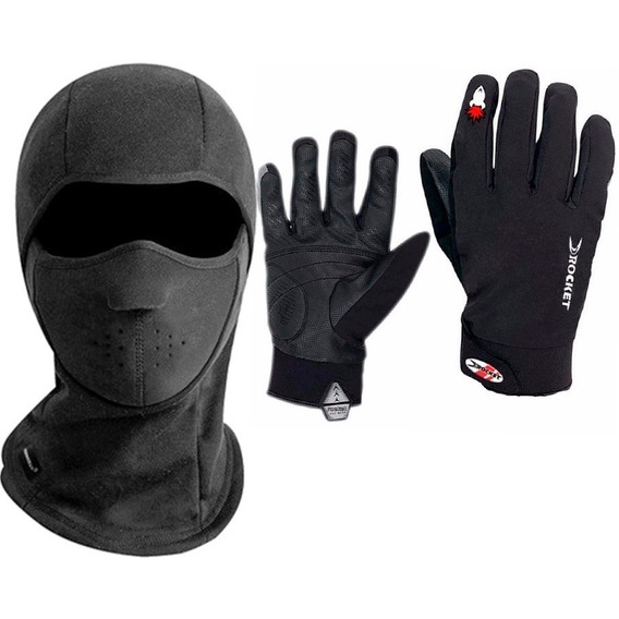 Kit Guantes Neoprene Joe Rocket + Balaclava 2 Termico - Fas