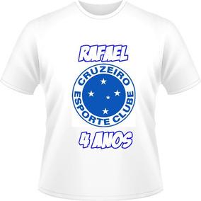 2c0c9fd33a Camisa Camiseta Cruzeiro Infantil Adulto + Nome