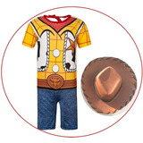 Fantasia Infantil Woody Toy Story C/ Chapeu Luxo Original