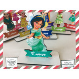 Aplique Madera 40cm Aladin Personalizado Princesas Jazmin