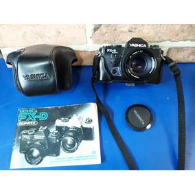 Camera Fotografica Yashica Fx-d Com Manual E Capa De Couro