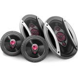 Kit Alto-falantes Universal Car 2 6x9 + 2 6