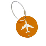 Etiqueta De Identificação De Bagagem Alumínio/aço (laranja)