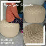 Puff Tejido Crochet - Reynas Tejidos Artesanales