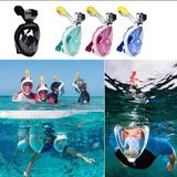 Snorkel Mascara Buceo Integral Cara Go Pro Antiparra Kit