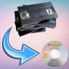 Pasaje De Vhs A Dvd! Convertimos Formato Minidv 8mm Hi8 Vhsc