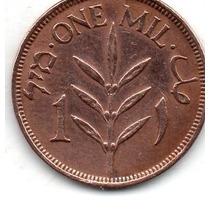 Moeda Palestina 1 Mil 1927 Bronze